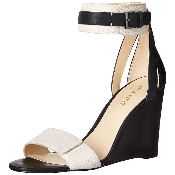 Nine West Womens Finula Leather Open Toe Special Occasion Platform Sandals