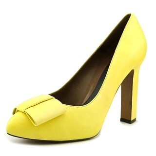 Marni PUMSL11C11 Women Pointed Toe Leather Yellow Heels