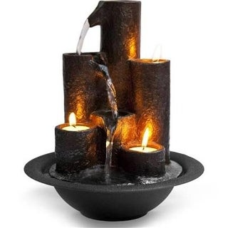 SereneLife Water Fountain Tabletop Feature Decoration, Black