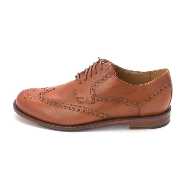 Cole Haan Mens Grand Carter-Wing Tip Oxford Leather Lace Up Dress Oxfords