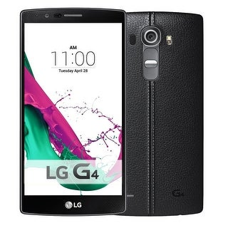 LG G4 H812 32GB Unlocked GSM 4G LTE Android Phone w/ 16MP Camera - Black Leather (Certified Refurbished) - Black leather