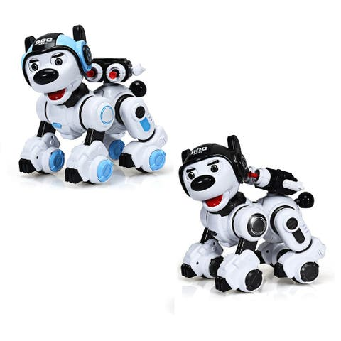 Costway RC Robotic Dog Interactive Puppy Toy Programmable Robot Kid Christmas Gift