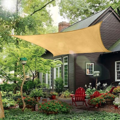 12x12 Feet Square Sun Shade Sail Appealing Highly Resistant