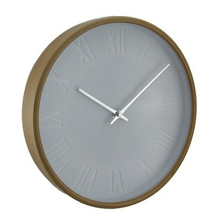 Natural Round Bentwood Wall Clock with Debossed Markers 11 Inch