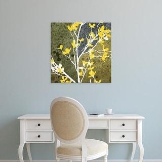 Easy Art Prints James Burghardt's 'Moon Flowers IV' Premium Canvas Art