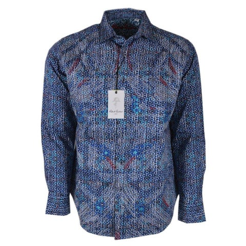 Robert Graham CARILLION Abstract Embroidered Button Down Sport Shirt