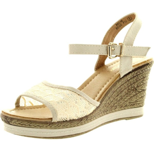 Bella Marie Womens Nxt-16 Ankle Strappy Espadrille Wedge Platform Sandals