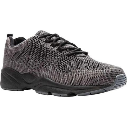 Propet Men's Stability Fly Sneaker Grey/Light Grey Mesh