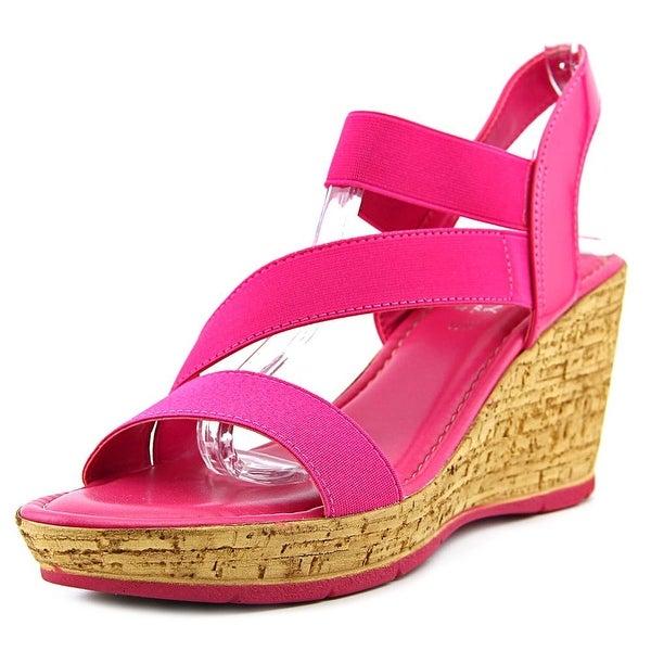 Easy Street Piceno Women Open Toe Canvas Wedge Sandal