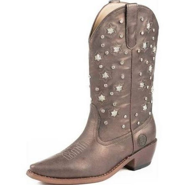 Roper Western Boots Womens Light Crystal Brown