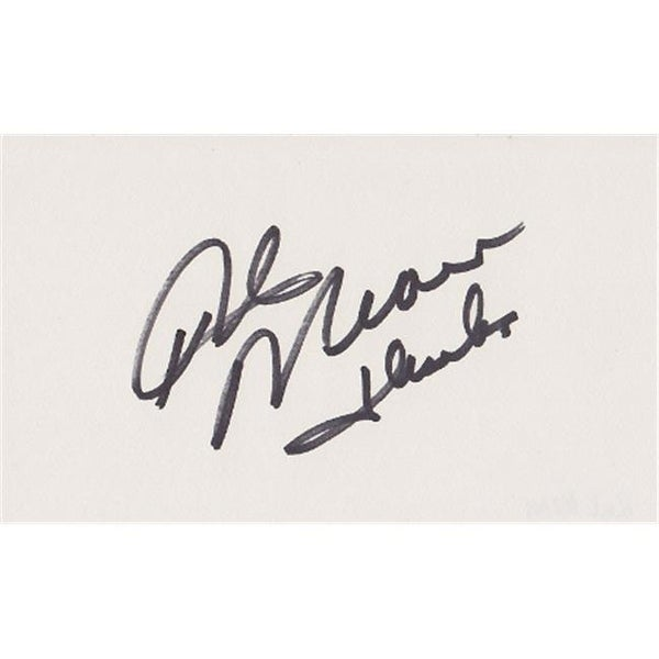 Shop Rick Mears Autographed 3X5 Card Indy Race Car Driver Free