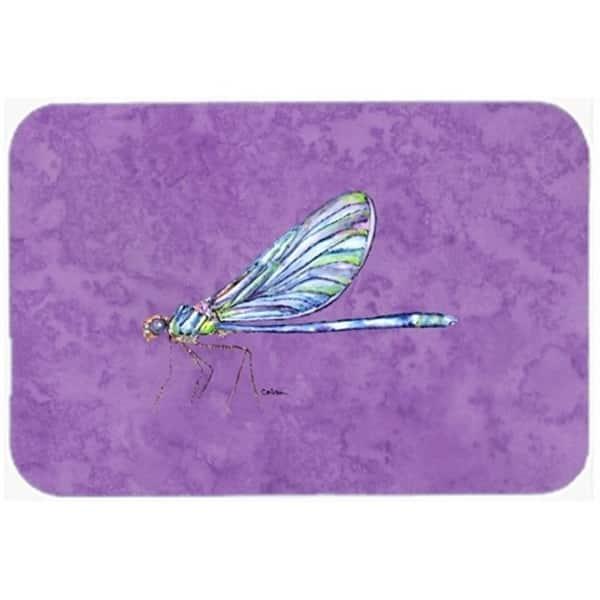 Carolines Treasures 8865JCMT 24 x 36 in. Dragonfly On Purple Kitchen Or  Bath Mat