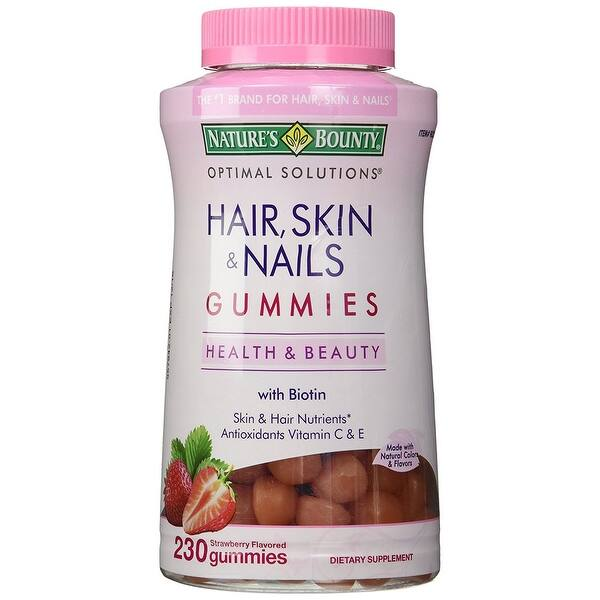 Shop Nature S Bounty Hair Skin Nails Gummies With 2500