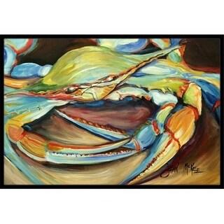 Carolines Treasures JMK1096MAT Blue Crab Indoor & Outdoor Mat 18 x 27 in.