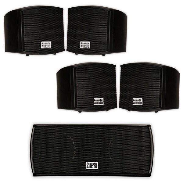 Acoustic Audio AA321B and AA32CB Mountable Indoor Speakers Home 5 Speaker Set