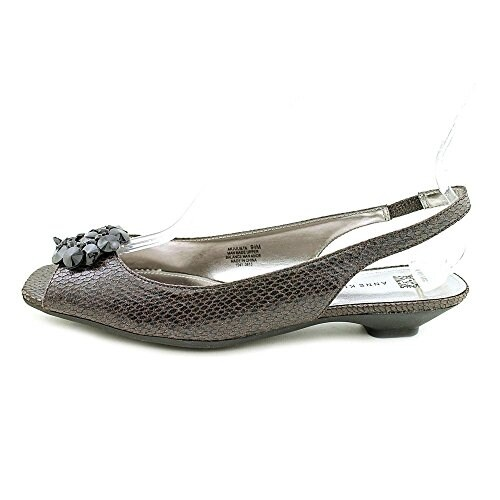 Anne Klein Womens Julieta Peep Toe Casual Slide Sandals - 10.5
