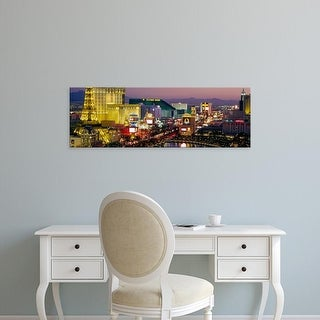 Easy Art Prints Panoramic Images's 'Las Vegas, Nevada, USA' Premium Canvas Art