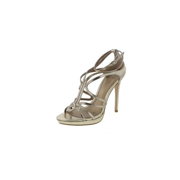 Badgley Mischka Womens Nicci Evening Heels Strappy Metallic