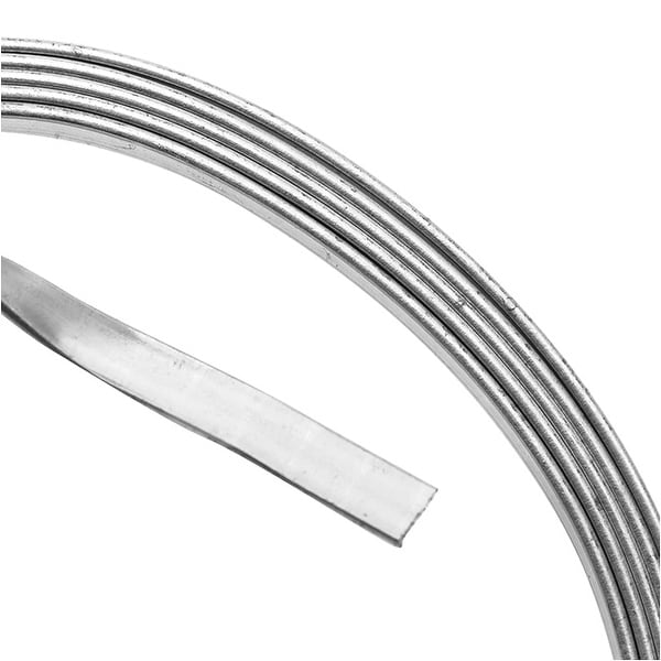 Artistic Wire, Flat Craft Wire 3mm 21 Gauge Thick, 3 Foot Coil, Tarnish Resistant Silver