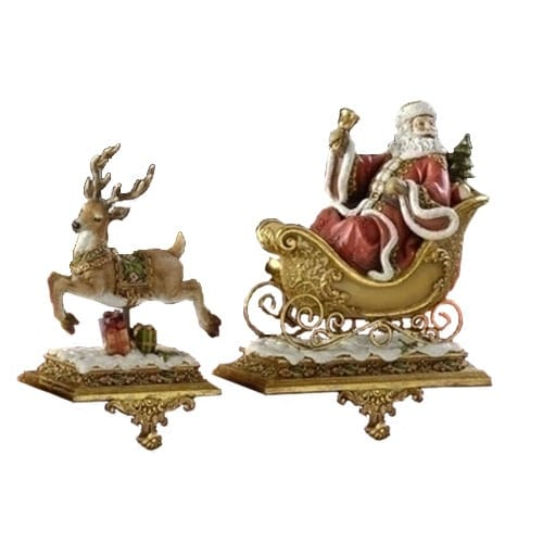 Victorian Sleigh and Reindeer Set