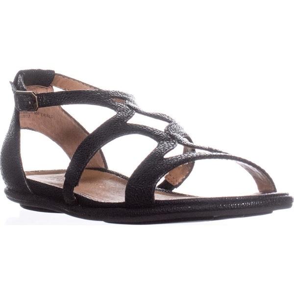 Kenneth Cole Oak Strappy Flat Sandals, Black - 6 us / 36 eu