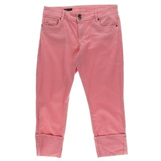 Kut From The Kloth Womens Cameron Straight Leg Jeans Cuffed Classic Rise