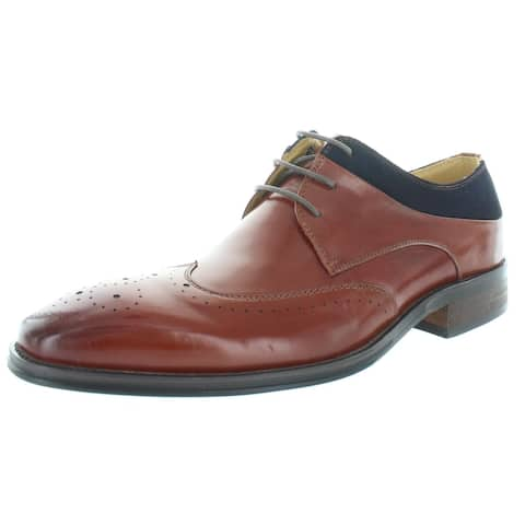 Stacy Adams Mens Hewlett Oxfords Leather Lace Up