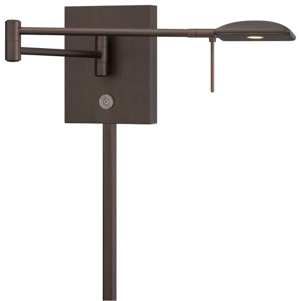 "Kovacs P4328-647 1-Light 6.25"" Height LED Plug In Wall Sconce in Copper Bronze Patina from the George's Reading Room Collection"