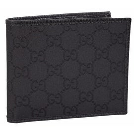 NEW Gucci 260987 Men's BLACK Nylon GG Guccissima Bifold Wallet