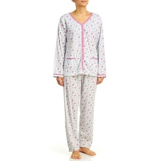 Body Touch Women's Brushed Inside Pajama Set