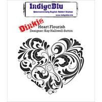 Heart Flourish - Indigoblu Cling Mounted Stamp