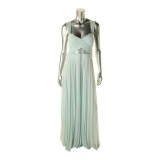 Aqua Womens Criss Cross Illusion Semi-Formal Dress
