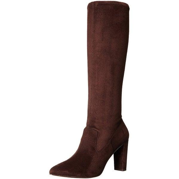 Adrienne Vittadini Womens Nanni Pointed Toe Knee High Fashion Boots