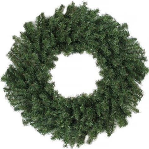 "24"" Canadian Pine Artificial Christmas Wreath - Unlit - N/A"