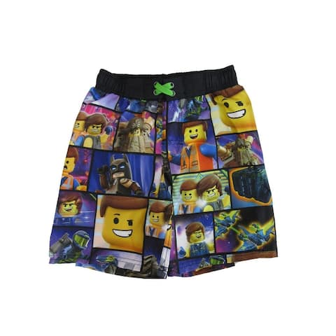 Lego Little Boys Multi Color Lego The Movie Inspired Swim Shorts