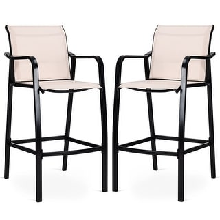 Link to Costway 2 PCS Counter Height Stool Patio Chair Steel Frame Leisure Similar Items in Patio Furniture