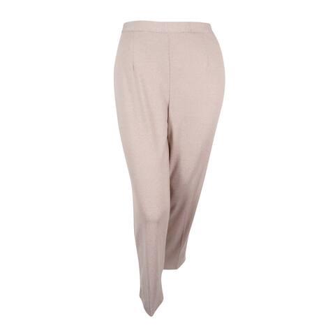 Alfred Dunner Women's Plus Size Acadia Pull-On Straight-Leg Pants
