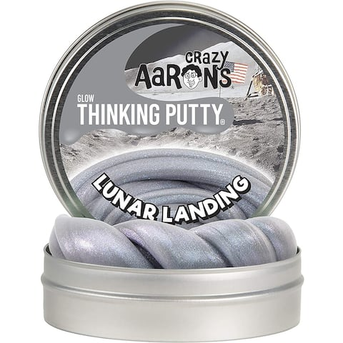 Crazy Aaron's Thinking Putty Full Size 4in Tin Glow Lunar Landing