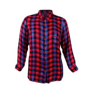 Lucky Brand Women's Trendy Plus Size Plaid Shirt (2X, Red Multi) - Red Multi - 2x