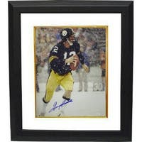 Terry Bradshaw signed Pittsburgh Steelers 16x20 Photo Custom Framed in the Snow JSA Hologram