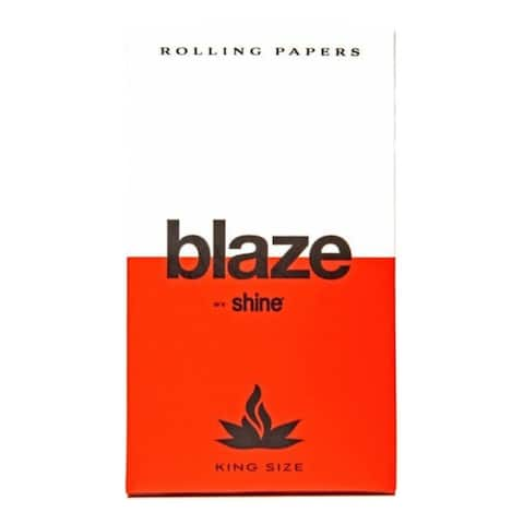 Shine Papers Blaze by Shine Hemp Rolling Papers (King Size/32 Sheets)