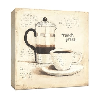 """PTM Images 9-151996  PTM Canvas Collection 12"""" x 12"""" - """"Parisian Coffee III"""" Giclee Coffee, Tea & Espresso Art Print on Canvas"""