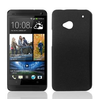 Unique Bargains Black Hard Shell Protective Phone Back Case Cover for HTC One M7