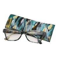 Women's Fashion Readers with Swarovski Crystal Accents & Case - Reading Glasses