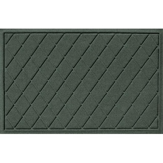 20377590023 Water Guard Argyle Mat in Evergreen - 2 ft. x 3 ft.