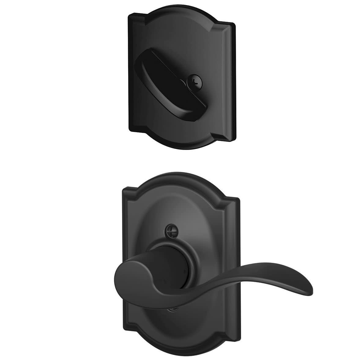 Schlage F59-ACC-CAM-LH  Accent Left Handed Single Cylinder Interior Pack with Decorative Camelot Trim (Oil Rubbed bronze)