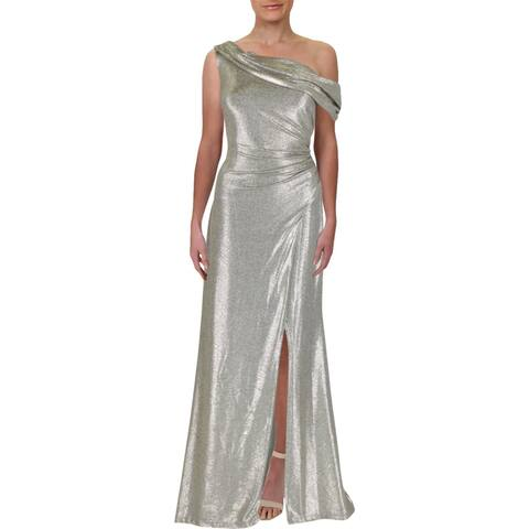 324d2986f84 Lauren Ralph Lauren Womens Dannita Evening Dress Formal One Shoulder