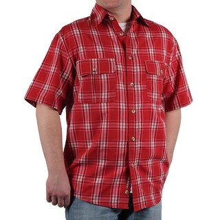 Case IH Men's Short Sleeve Plaid Shirt
