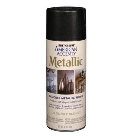 American Accents 243898 Metallic Spray Paint, 12 Oz, Oil Rubbed Bronze