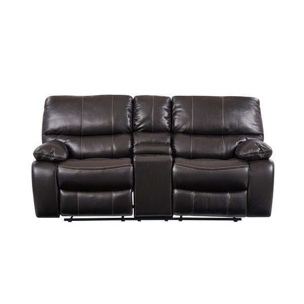 Global Furniture USA Grey Console Reclining Loveseat. Opens flyout.